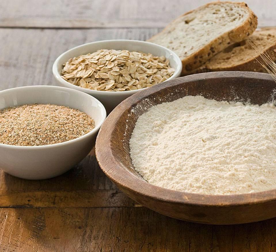 Le farine del pane nel panificio Viganò
